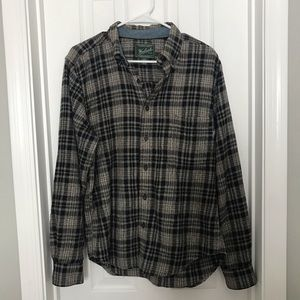 Woolrich Casual Button Down Flannel Shirt Green